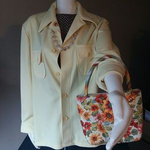 Vintage 70s Haggar Yellow Shirt NWOT, used for sale